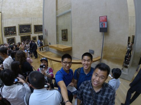 Mona Lisa: say cheese!
