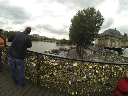 Locks on Lover's Bridge