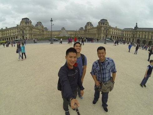 The group at Louvre Palace