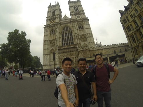 Group shot in front of Westminster Abbey