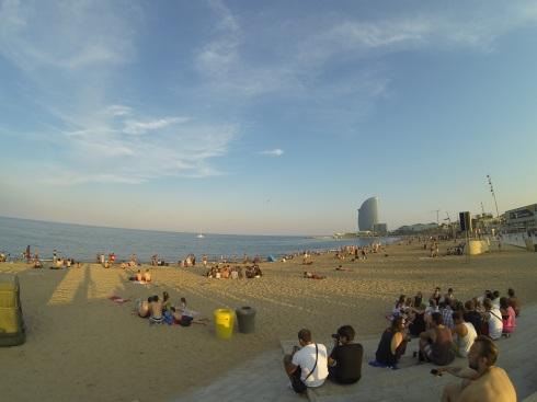 The amazing beaches at La Barceloneta