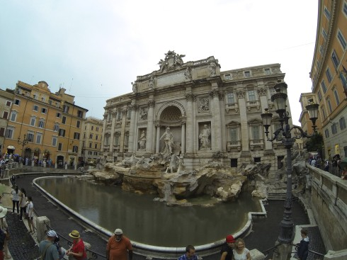 Tossed a coin into Trevi Fountain!